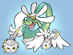 Drampa and Togedemaru by AlouNea