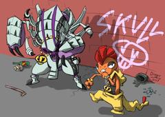 Team Skull s Golisopod and Scrafty Break it Down