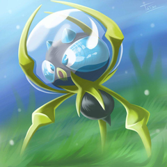 Dewpider Pokemon Sun Pokemon Moon by tatanRG