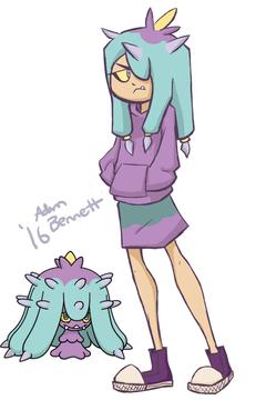 I decided to draw Mareanie pokemon