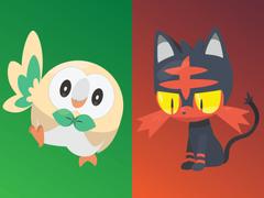 Pokemon Rowlet Litten Popplio Evolutions Image