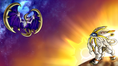 Lunala and Solgaleo Pokemon Sun and Wallpapers