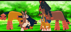 Mmd Pokemon Sun and Moon Mudbray and Mudsdale by kaahgomedl on