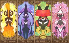 Legendary Pokemon tapu koko tapu fini tapu bulu y tapu lele