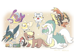 Pokemon Tapu Koko Togedemaru Yungoos Vikavolt wallpapers