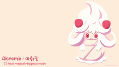 OC I made Alcremie wallpaper It s Korean name is read