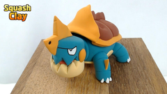 I sculpted Drednaw from Pokémon Sword Shield pokemon