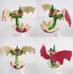 I made Flapple Clayart pokemon
