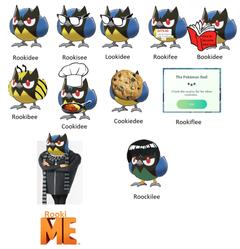 OC Making every Galar Pokemon into a pun Rookidee pokemon