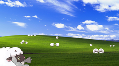 If anyone is interested I made a wooloo Desktop wallpapers