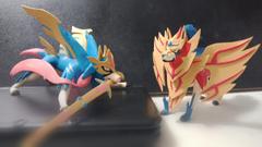 I made Zacian and Zamazenta clay pokemon