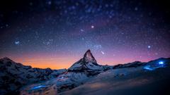 snow Winter Matterhorn Nature Blurred Landscape Mountain Wallpapers HD Desktop and Mobile Backgrounds