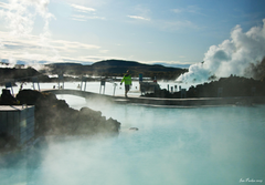 Iceland Blue Lagoon Wint HD Wallpaper Backgrounds Image