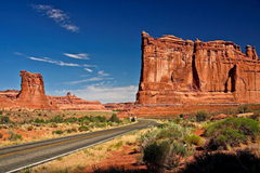 Scenic Route Arches National Park United States Utah Us