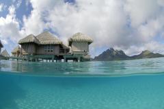 St regis bora water villa bungalow blue lagoon wallpapers