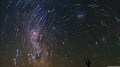 Star Trails over Atacama Desert 4K HD Desktop Wallpapers for