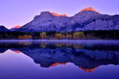 Wallpapers Canada Canadian Rockies Kananaskis Nature Mountains Lake