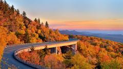 The Blue Ridge Parkway North Carolina US