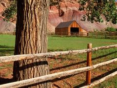 Houses Cottage Meadow Fruita Barn Capitol Reef National Park Utah
