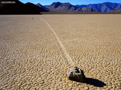 Nature Mysterious Sliding Rock At The Racetrack Death Valley