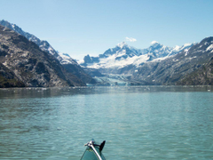 Kayaking into Johns Hopkins Inlet Glacier Bay National Pa
