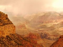 Landscapes Fog Filled Morning Grand Canyon National Park
