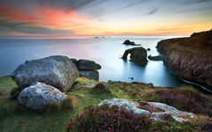 Lands End Cornwall widescreen wallpapers
