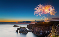 Fireworks at Land s End Cornwall
