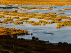 stock photo of Lake Titicaca peru Uros Indians