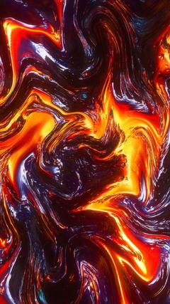 Digital art lava fire glitch abstract wallpapers