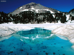 Nature The Thaw Lassen Volcanic National Park California picture