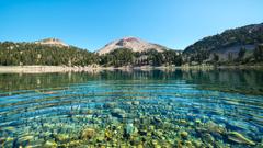 California Landscapes Lassen Volcanic National Park Nature Water