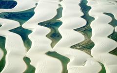Sandy dunes and natural pools Lençóis Maranhenses National Park