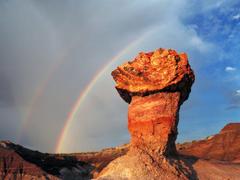 Wallpapers Pedestal Log Blue Mesa Petrified Forest National Park