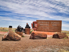 Petrified Forest National Park by Motorcycle Day 5 Motorcycle