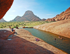 Who else feels like going for a swim in Spitzkoppe Namibia
