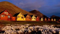 Longyearbyen in Summer Svalbard Archipelago