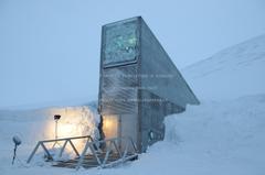 svalbard global seed vault nature winter