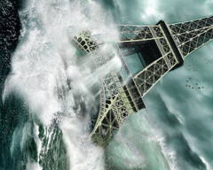 Photography Captivating Tsunami At Eifel Tower Picture Desktop