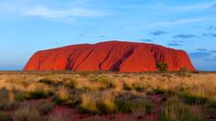 Uluru Also Known As Ayers Rock Great Red Sandstone Kata Tjuta