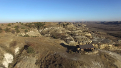 Theodore Roosevelt National Park North Drone view