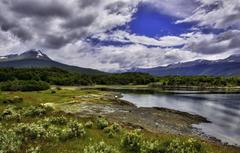 Wallpapers the sky clouds mountains Argentina Argentina Ushuaia