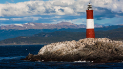 Lighthouse in the Beagle Channel near Ushuaia Tierra Del Fuego