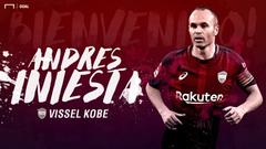 El Vissel Kobe presenta a Andrés Iniesta con el dorsal 8