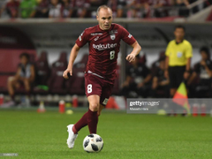 Andres Iniesta Vissel Kobe in action during the J League J1 match