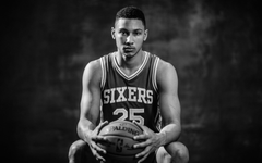 4k wallpapers Ben Simmons monochrome basketball players