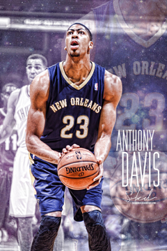 Anthony Davis Galactic Artwork by SkdWorld