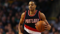 Blazers C J McCollum suspended for leaving bench during