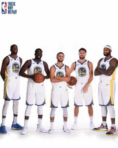 Curry Thompson Green Durant Cousins Golden State Warriors big 5 team