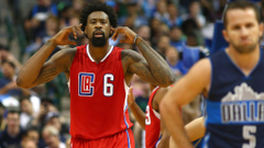 DeAndre Jordan to reporter It s hard to hear you with all these